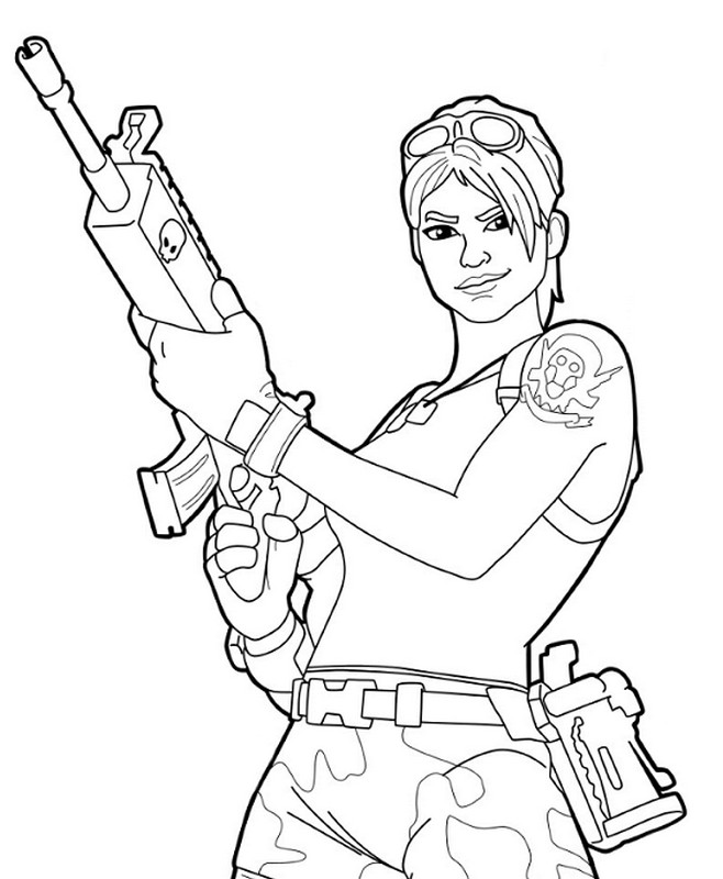 Coloriage fortnite master grenadier 4 for Fortnite disegni da colorare