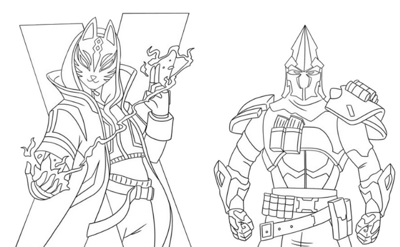 Coloriage Fortnite Saison 10 Catalyst Et Ultima Knight 9