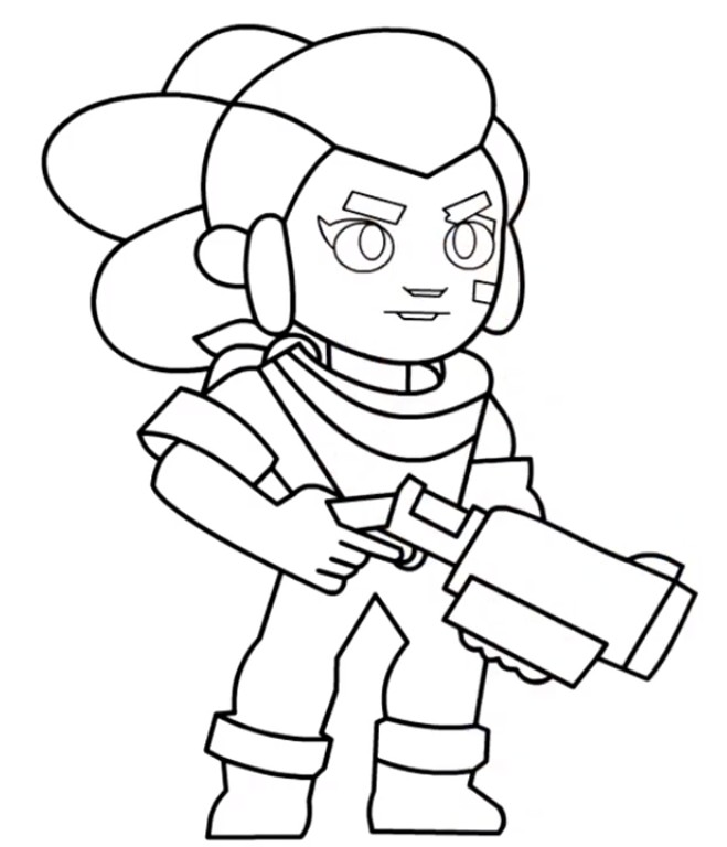 Coloriage Shelly - Brawl Stars