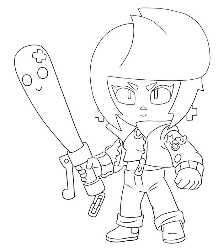 Coloriage Billie - Brawl Stars