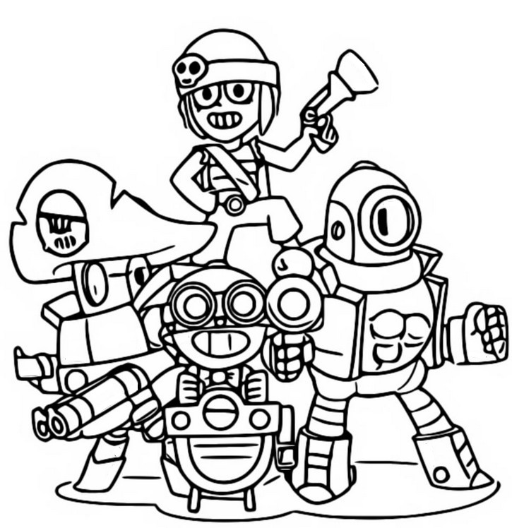 Coloriage Brawlers super rares