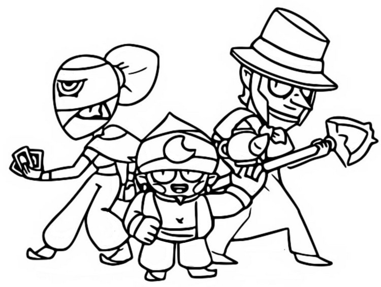 Coloriage Brawlers mythiques - Brawl Stars
