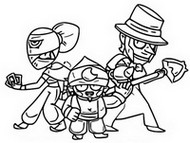 Coloriage Brawlers mythiques