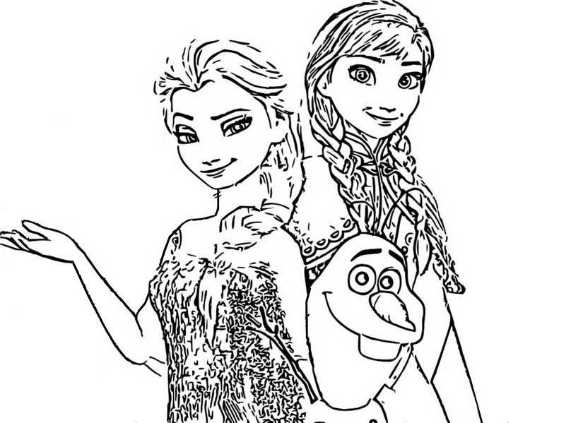 Coloriage La Reine Des Neiges 2.Coloriage Reine Des Neiges 2 Anna Et Elsa 3