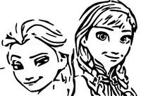 Coloriage Anna et Elsa