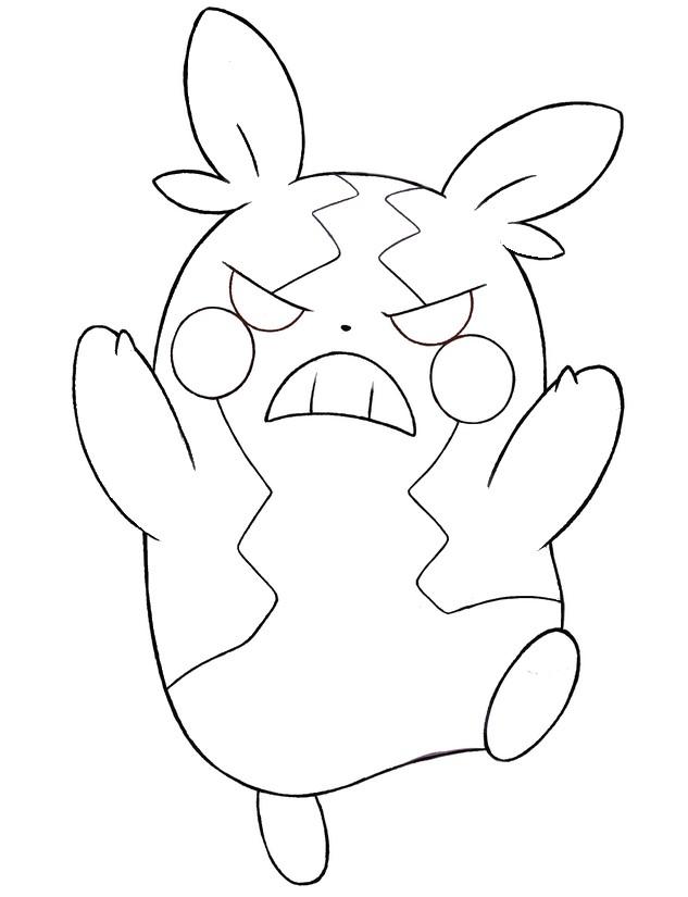 Coloriage Pokemon Epee Et Bouclier Morpeko Mode Affame 20