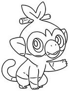 Coloriage Ouistempo Pokémon Chimpanzé