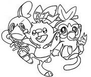 Coloriage Starters Pokémon Bouclier et Epée