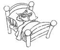 Coloriage Ackaturbo au lit
