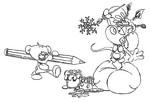Coloriage Diddl et ses amis dessinent