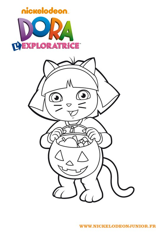 Coloriage Dora L Exploratrice 1