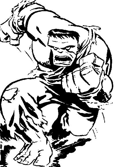 Coloriage Hulk 1