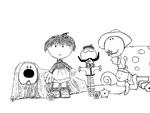 Coloriage Pollux et ses amis