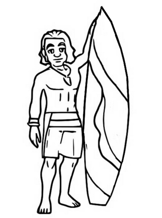 Coloriage Surfer