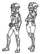 Coloriage Ultra Recon Squad - Dulse et Soliera