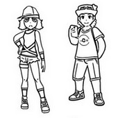 Coloriage Couple de touristes