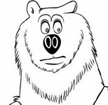 Coloriage Tête de Grizzy