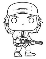 Coloriage AC/DC - Angus Young