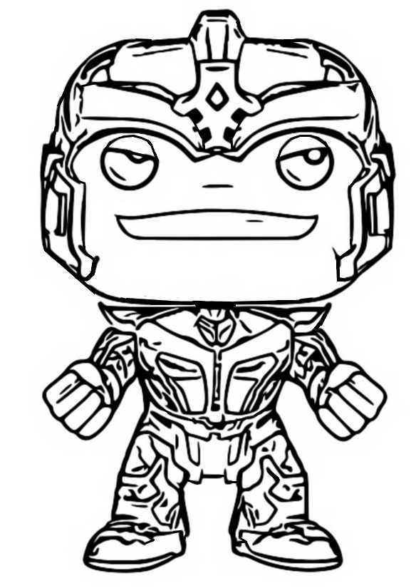 Coloriage Guardian of the Galaxy - Thanos
