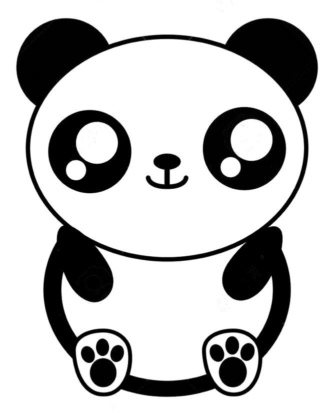 Coloriage Kawaii Panda 7