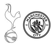 Coloriage Quarts de finale : Tottenham - Manchester City