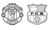 Coloriage Quarts de finale : Manchester United - Barcelone