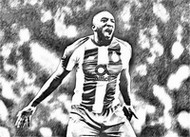 Coloriage Moussa Marega 2019
