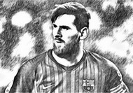 Coloriage Lionel Messi 2019