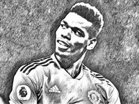 Coloriage Paul Pogba 2019