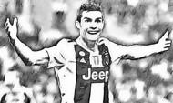 Coloriage Cristiano Ronaldo 2019