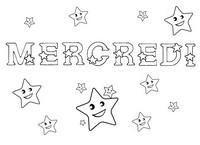 Coloriage Mercredi