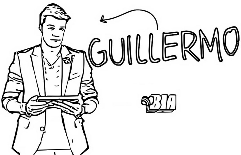 Coloriage Guillermo - Bia