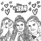 Coloriage Bia, Chiara, Celeste