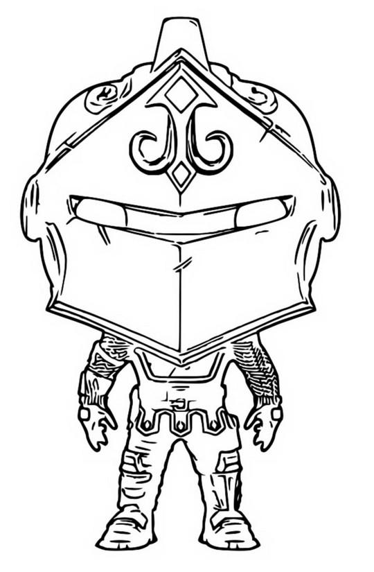 Coloriage Funko Pop Fortnite Black Knight 6