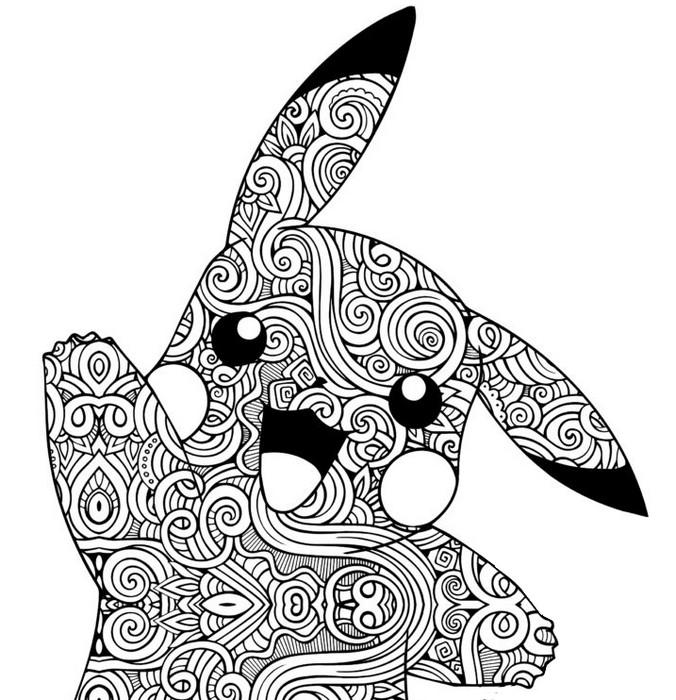 Coloriage Pokémon Pikachu Zentangle Pikachu 10