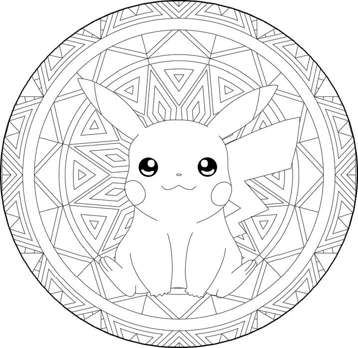 Coloriage Pokémon Pikachu Mandala Pikachu 11