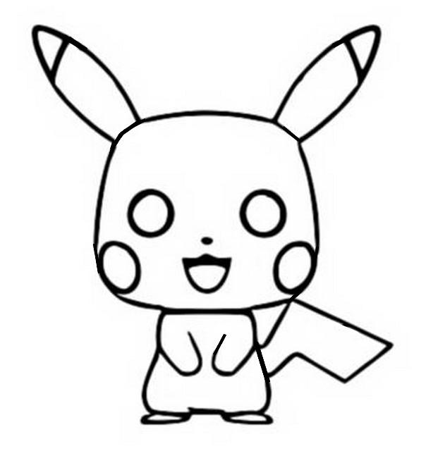 Coloriage Pokémon Pikachu : Funko Pop Pikachu 4