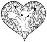 Coloriage Coeur Pikachu