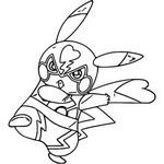 Coloriage Pikachu Libre