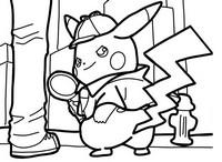Coloriage Détective Pikachu