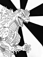 Coloriage Godzilla 2000