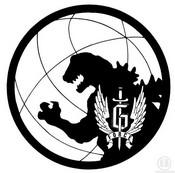Coloriage Logo Godzilla