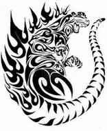 Coloriage Tatouage de Godzilla