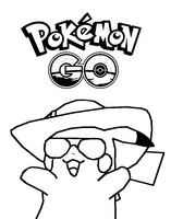 Coloriage Pikachu Pokémon Go