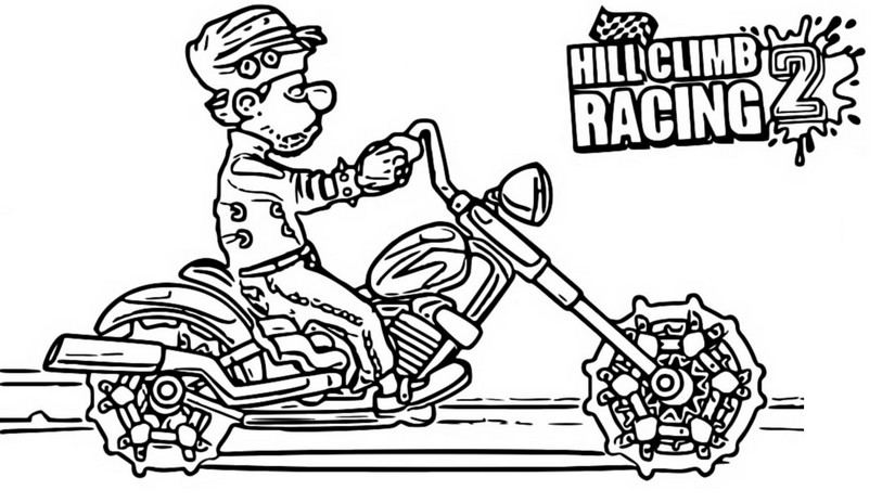 Coloriage Moto Chopper - Hill Climb Racing