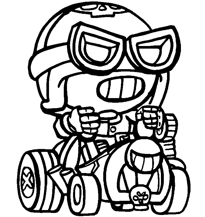 Coloriage Road Rage Carl