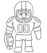 Coloriage Touchdown Bull
