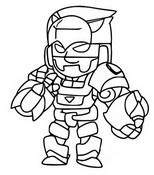 Coloriage Gold Mecha Bo