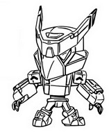 Coloriage Mecha crow