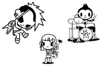 Coloriage Punkstar Rocco & Charley